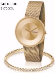 【送料無料】腕時計 ウォッチ スカイメッシュコンビブレスレットキット¥lambretta cielo reloj de oro malla 37 duo amp; kit de brazalete de cristal 2170gol rrp 140 pn