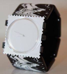 腕時計 ウォッチ アラームファンキーホワイトスタンプエリアモンパルナス