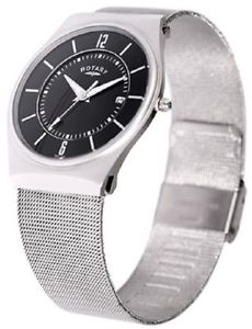 腕時計 ウォッチ ロータリーブラックメッシュブレスレットグアーガム¥fecha giratoria gb0003319 malla pulsera esfera negra impermeable 2 ao guar rrp  149