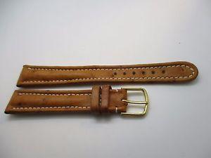 腕時計 ウォッチ ブレスレットベージュカップルカミーユbracelet en cuir dautruche beige fabriqu par camille fournet t 17