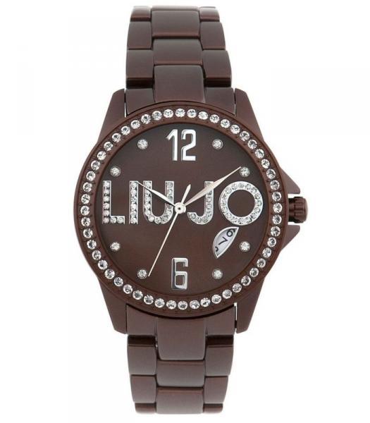 腕時計 ウォッチ ドナリュジョスワロフスキーフライレディーorologio donna liu jo luxury fly alluminio colorato nero marrone swarovski lady