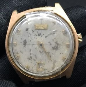 【送料無料】腕時計 ウォッチ ヴィンテージアラームrevue automatic vintage watch no funciona reloj 33,7 mm