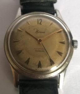 【送料無料】腕時計 ウォッチ リレーmontre automatic ancienne herma, mvt eta 1257 fonctionne parfaitement
