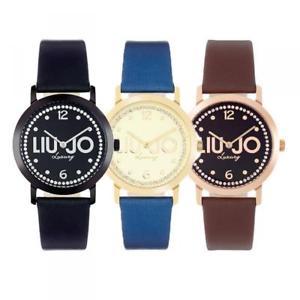【送料無料】腕時計 ウォッチ ドナリュジョラグジュアリースリムスワロフスキーorologio donna liu jo luxury slim pelle nero marrone ros swarovski dd
