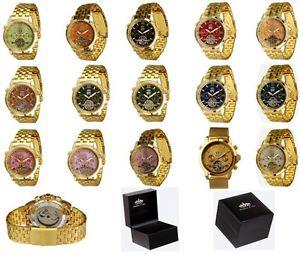 【送料無料】腕時計 ウォッチ リンドバーグlindberg amp; sons automatikuhr pireo en color dorado con mano pvp 179
