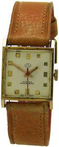 【送料無料】腕時計 ウォッチ ヴィンテージアラームゴールデンマンワーククラシックブラウンウォッチre watch pequeas vintage reloj hombre dorado marrn funcionan classic 17 rubis
