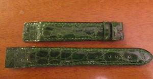 【送料無料】腕時計 ウォッチ ブレスレットクロコダイルbracelet pour montre a anses fixes t18 en crocodile vert cousu main