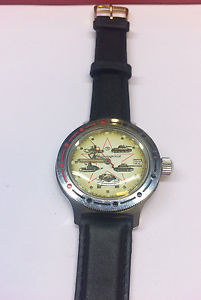 【送料無料】腕時計 ウォッチ ロシアアラームロシアrusia reloj de pulsera reloj russia watch militruhr nos panzeruhr