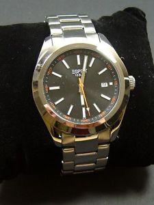 【送料無料】腕時計 ウォッチ アラームマニュアルステンレススチールストラップシルバーブラックミロオリジナル