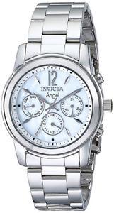 【送料無料】腕時計 ウォッチ クオーツクロノグラフアラームステンレススチールinvicta ngel mujer crongrafo de cuarzo 50m reloj acero inoxidable 0463