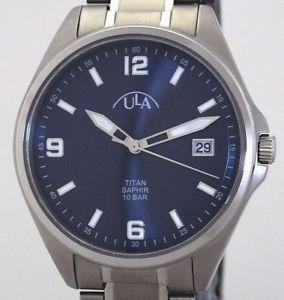 【送料無料】腕時計 ウォッチ ラチタンサファイアガラスアラームマンユーロula plenamentetitaniozafiro vidrio reloj hombre nuevo 10 atm wr pvp 79,90 eur