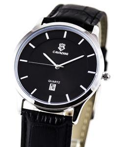 【送料無料】腕時計 ウォッチ クラシッククロックシリーズユーコンステンレススチールcavadini clsico reloj de hombre serie yukon, fecha, acero inox , schwarzindex