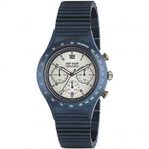【送料無料】腕時計 ウォッチ ヒップホップアルミニウムクロノブルorologio uomo hip hop aluminium hwu0731 chrono bracciale alluminio blu 42mm