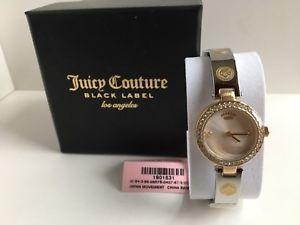 【送料無料】腕時計 ウォッチ ジューシークチュールカリゴールデンホワイトレザーストラップnuevo juicy couture cali correa de cuero dorado blanco reloj mujer