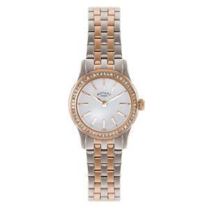 【送料無料】腕時計 ウォッチ ロータリートーンステンレススチールブレスレットポンドrotary mujer dos tonos brazalete de acero inoxidable reloj de cuarzo lb0257201s