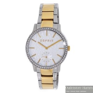 【送料無料】腕時計 ウォッチ アラームジェイミーステンレススチールesprit reloj jamie twotone es108112007 seora reloj pulsera de acero inoxidable bicolor