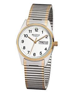 【送料無料】腕時計 ウォッチ リージェントステンレススチールブレスレットストラップregent acero inoxidable de los hombres pulsera reloj tirante bicolor f880