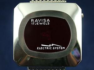 【送料無料】腕時計 ウォッチ デジタルビンテージパワージャンプシステムスイスreloj digital vintage nos ravisa elctrico sistema salto hora 1970s led suizo