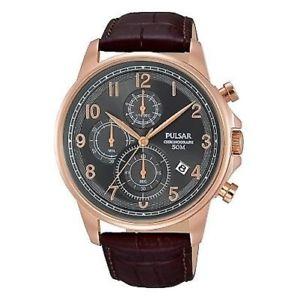 【送料無料】腕時計 ウォッチ ベルトプレスクロノグラフpm3083x1 nuevo pulsar de caballero crongrafo reloj pulsera con correa cuero
