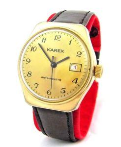 【送料無料】腕時計 ウォッチ エクスポートマンブラックゴールドkarex umf ruhla exportacin reloj de hombre marrn oro negro fecha kaliber 24