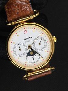 【送料無料】腕時計 ウォッチ ヴィンテージムーンクロックnos varcar vintage watch reloj nuevo 32mm moon lunar fasi lunari