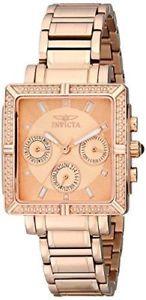 【送料無料】腕時計 ウォッチ ワイルドフラワーピンククォーツハンドゴールドフィールドアラーム14872 invicta 326mm mujer flor silvestre cuarzo 3 mano rosa oro esfera reloj