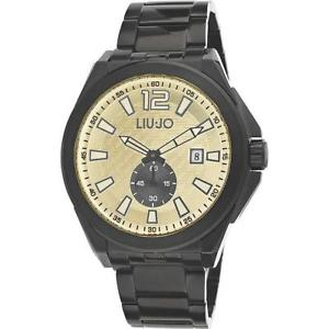 【送料無料】腕時計 ウォッチ アラームリュジョステンレススチールブレスレットブラックベージュreloj hombre liu jo luxury temple tlj889 pulsera acero negro beige nuevo