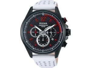【送料無料】腕時計 ウォッチ プレスクロノグラフアラームレザーストラップpt3545x1 nuevo pulsar caballero crongrafo reloj correa de cuero