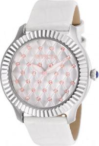 【送料無料】腕時計 ウォッチ メスホワイトレザーステンレススチールアラーム25744 invicta 405mm mujer ngel 100m acero inoxidable cuero blanco reloj