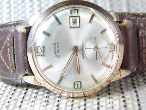 【送料無料】腕時計 ウォッチ シリアルoriginal lanco militar n de serie chapado en oro de 1957 funciona lote watches