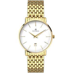 【送料無料】腕時計 ウォッチ メンズゴールドブレスレットアナログウォッチaccurist mens gold bracelet analogue watch 7160 rrp 14999