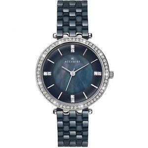 【送料無料】腕時計 ウォッチ ブラックセラミックレディースロンドンウォッチseoras reloj de cermica negro accurist londres 8162 rrp 149