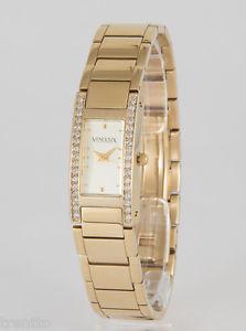 【送料無料】腕時計 ウォッチ アラームスチールスチールゴールドウォッチreloj vendoux mujer acero dorado md13120 womens steel gold watch uhr 3 atm