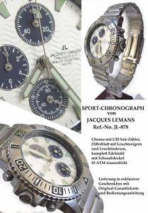 【送料無料】腕時計 ウォッチ ジャックルマンクロノグラフアラームステンレススチールrara vez, rareza jacques lemans chronograph reloj hombre, masivamente acero inoxidable jl 878