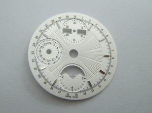 【送料無料】腕時計 ウォッチ ブランインデックスcadran 30mm blanc avec index couleur acier neuves pour eta valjoux 7751