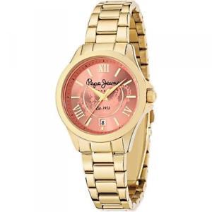 【送料無料】腕時計 ウォッチ ジーンズゴールドロンドンorologio donna pepe jeans katy r2353114501 bracciale acciaio gold dorato london
