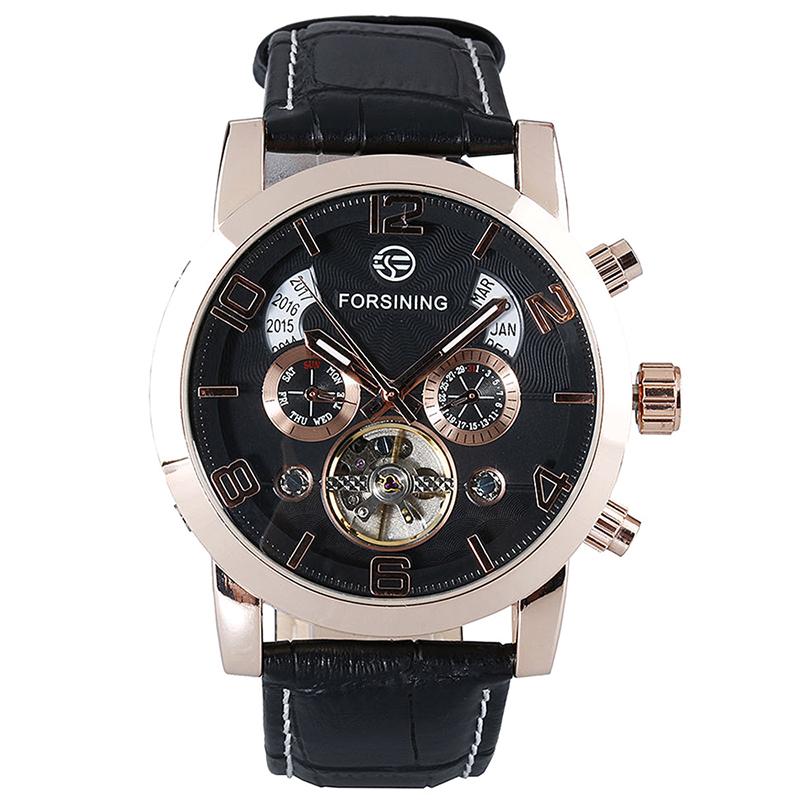 【送料無料】腕時計 ウォッチ オートスチールクォーツアラーム3xforsining reloj automatico reloj para hombre reloj de cuarzo de acero inq3l9