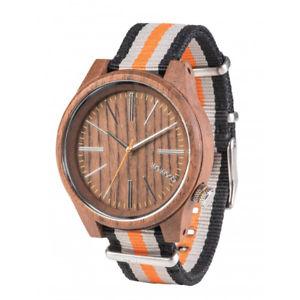 【送料無料】腕時計 ウォッチ ナットオレンジorologio in legno wewood torpedo nut orange wood watch