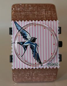 【送料無料】腕時計 ウォッチ アラームツバメスタンプガルローズゴールドstamps reloj swallow stamps esfera gaviota belta structure rose oro