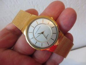 【送料無料】腕時計 ウォッチ ベラステンレスbella reloj de pulsera __ adora __ acero inox dorado __ hermosa __ nuevo