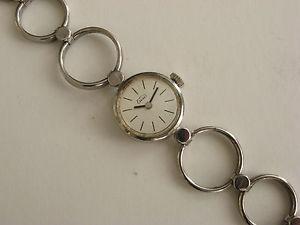 【送料無料】腕時計 ウォッチ シルバービンテージレディアラームライバルlady eusi plata 835 vintage seora reloj de pulsera reloj rivales funcionan wrist watch
