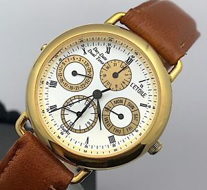 【送料無料】腕時計 ウォッチ アメリカライムウォッチビンテージデュアルタイムnos nuevo l´etoile cal 4p40 watch vintage day date dual time 33 mm mag2
