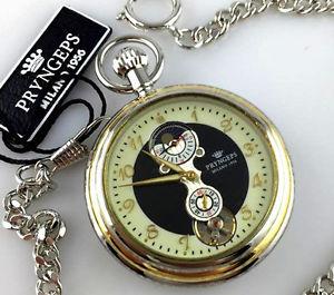 【送料無料】腕時計 ウォッチ マニュアルスケルトンウォッチpryngeps poket watch manual wind orologio tasca carica manuale skeleton lunare