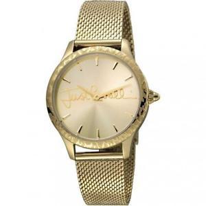 【送料無料】腕時計 ウォッチ キャバリロゴゴールドメッシュorologio donna just cavalli logo jc1l023m0095 bracciale acciaio gold mesh