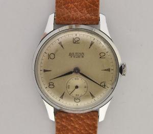 【送料無料】腕時計 ウォッチ ヴィンテージスチールberna, orologio uomo meccanico manuale vintage 1950 34mm steel watch working