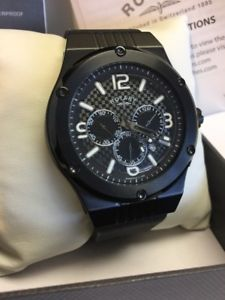 【送料無料】腕時計 ウォッチ ロータリーイオンアラームクロノグラフスイスrotary para caballero con fusin chapado ionizado negro crongrafo suizo reloj gs03623c19a