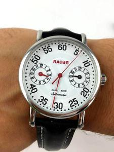 【送料無料】腕時計 ウォッチ オロロジオイタリアンデザインデュアルタイムウォッチorologio rare italian design dual time automatico meccanico watch 43mm