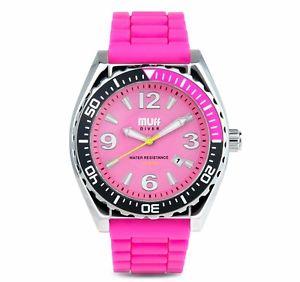 腕時計 ウォッチ カフダイバーウォッチピンクホットmanguito diver watch color de rosa caliente