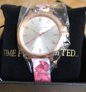 【送料無料】腕時計 ウォッチ テッドベーカーベルトレディースピンクゴールドted baker seoras de cuero reloj correa floraloro rosa nuevo y en caja