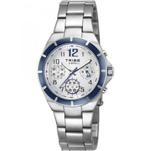 【送料無料】腕時計 ウォッチ クロノブルビアンコorologio breil tribe dart ew0125 chrono bracciale acciaio blu bianco